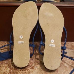 CocoBelle Shoes - ROYAL BLUE COCOBELLE THONG SANDALS